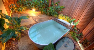 Bathtub at private garden IV