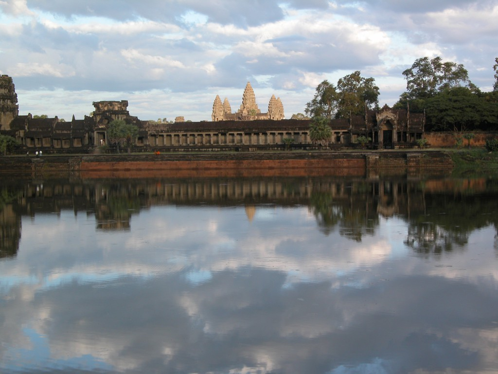 Cambodia; Siem Reap; Angkor Wat in late afternoon sun